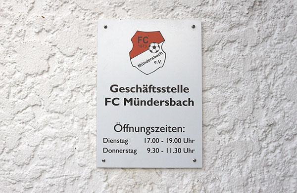 Geschäftsstelle FC Mündersbach e. V.